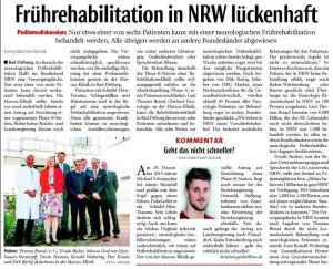 Nur einer von sechs Frühreha-Patienten kann in NRW behandelt werden.